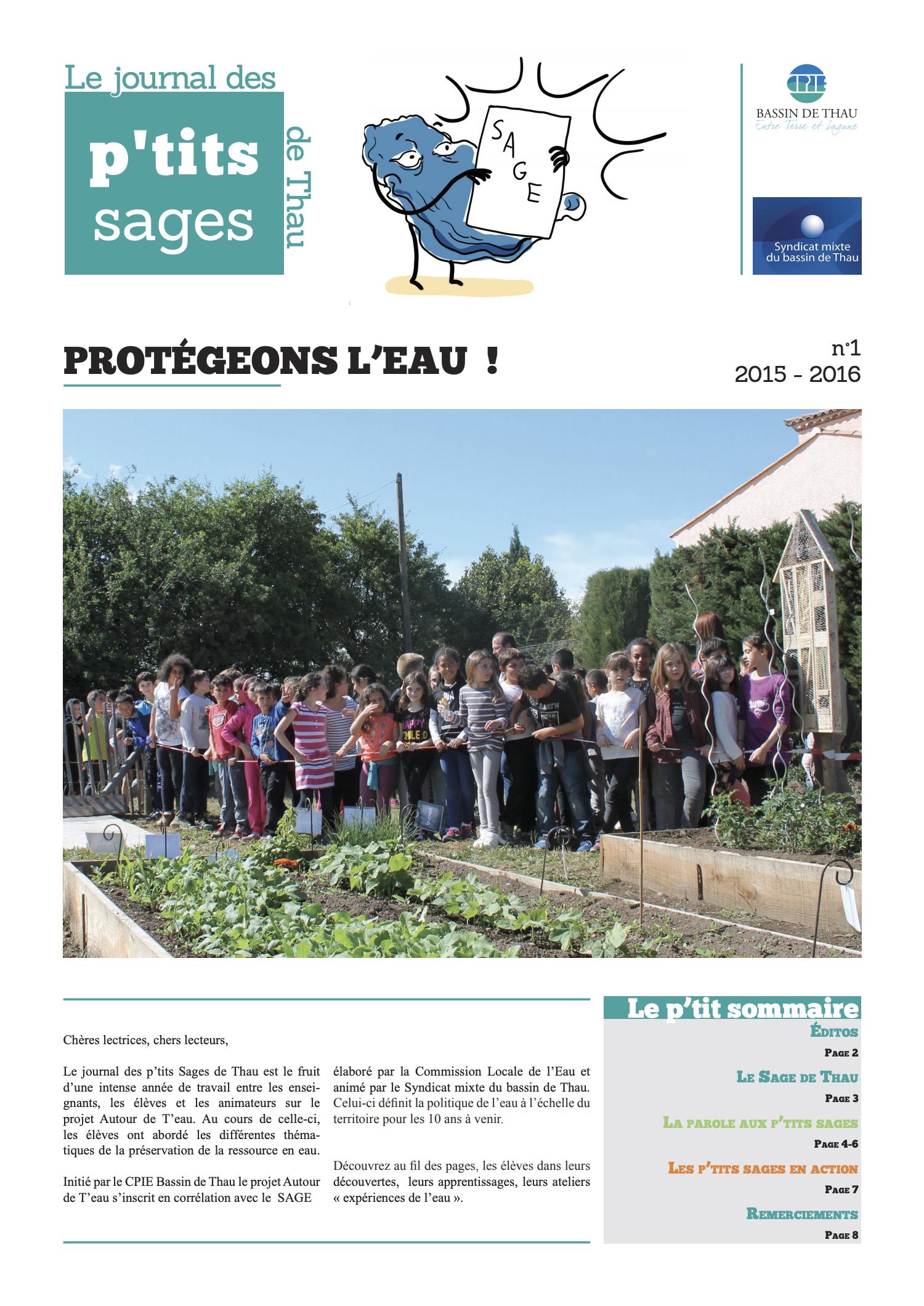 Journal des petits SAGE 2015-2016